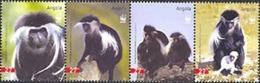ANGOLA 2004 - W.W.F. Singe Colobus - 4 V. - Angola