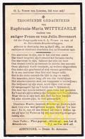 DP Euphrasia M. Wittezaele / Beernaert ° Aartrijke Zedelgem 1884 † 1921 - Images Religieuses