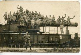 """340. PHOTO MILITAIRES SUR UN CANON. """"MAILLY, 370 APRES LE FEU"""" - Army & War"""