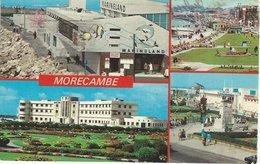 Morecambe 4 Views. England    Used 1977.  S-4609 - Angleterre