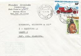Congo 1978 Pointe Noire Oldtimer Car Alfa Romeo Hairdress Cover - Afgestempeld