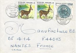Congo 1977 Pointe Noire Roman Coin Antilope Cover - Afgestempeld