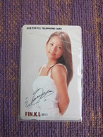 Autelca Magnetic Phonecard,Fin.K.L Singer,used - Korea, South