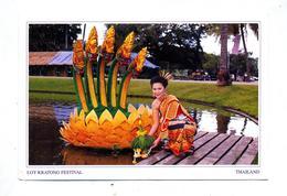 Carte Festival Loy Kratonf Cachet Sur Roi - Thaïlande