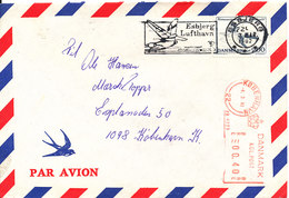 Denmark Air Mail Cover With Stamp And Meter Cancel Copenhagen 4-3-1982 - Airmail