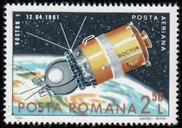 ROMANIA - Scott #C258 Vostok I / Used Stamp - Oblitérés