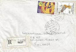 Congo 1984 Pointe Noire Disabled Handicapped Huppe Fasciée Upupa Epops Bird Registered Cover - Afgestempeld