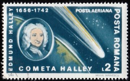 ROMANIA - Scott #C269 Halley's Comet / Used Stamp - Oblitérés