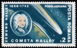 ROMANIA - Scott #C269 Halley's Comet / Used Stamp - Airmail