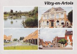 62 VITRY EN ARTOIS / MULTIVUES - MAIRIE - ETANG - RUE - Vitry En Artois