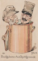 SATIRIQUE-ANTI KAISER-GUILLAUME II   ILLUST.  GILBERT.B   Bouillabaise Austro-hongroise - War 1914-18