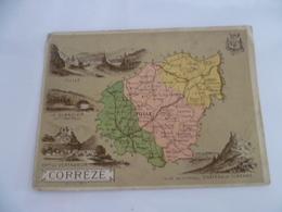 Lot De 4 Petites Cartes Géographiques - CORREZE / HAUTE-VIENNE / AUDE / VOSGES - Geographical Maps