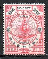ASIE - (CHINE - SHANGAI) - 1893 - N° 115 - 2 C. Vermillon Et Noir - (Cinquantenaire Des Concessions étrangères) - Chine