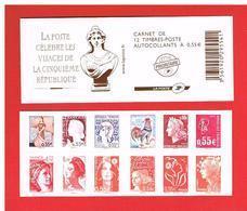 FRANCE 2008 - CARNET N° 1518 Ou  BC 4287 - Composition Variable - Les Visages De La Vè République - Y&t - Cote : 33.00 € - Carnets