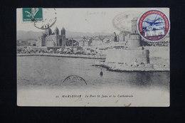 FRANCE - Vignette Du Pont Transbordeur De Marseille Sur Carte Postale En 1908 -  L 20942 - Erinnophilie