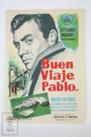 Original 1959 Buen Viaje, Pablo Cinema / Movie Advt Brochure -   Ettore Manni, Gisia Paradís, María Del Valle - Publicité Cinématographique