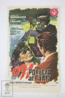 Original 1960 091, Policía Al Habla Cinema / Movie Advt Brochure -  Adolfo Marsillach,  Tony Leblanc,  Susana Campos - Publicité Cinématographique