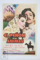 Original 1942 El Peñón De Las ánimas Cinema / Movie Advt Brochure -  Jorge Negrete,  María Félix,  René Cardona - Publicité Cinématographique