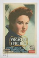 Original 1943 The Lamp Still Burns Cinema / Movie Advt Brochure -  Rosamund John,  Stewart Granger,  Godfrey Tearle - Publicité Cinématographique
