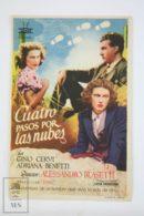 Original 1942 Quattro Passi Fra Le Nuvo Cinema / Movie Advt Brochure -  Gino Cervi,  Adriana Benetti,  Giuditta Rissone - Publicité Cinématographique