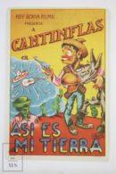 """Original 1937 ¡Así Es Mi Tierra! Cinema / Movie Advt Brochure - Mario Moreno """"Cantinflas"""",  Manuel Medel - Publicité Cinématographique"""