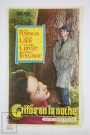 Original 1946 Wanted For Murder Cinema / Movie Advt Brochure - Eric Portman,  Dulcie Gray,  Derek Farr - Publicité Cinématographique
