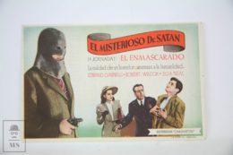 Original 1940 Mysterious Doctor Satan Cinema / Movie Advt Brochure - Eduardo Ciannelli, Robert Wilcox, William Newell - Publicité Cinématographique