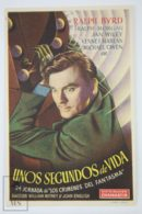 Original 1941 Dick Tracy Vs. Crime Inc. Cinema / Movie Advt Brochure - Ralph Byrd, Michael Owen, Jan Wiley - Publicité Cinématographique