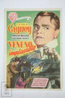 Original 1951 Come Fill The Cup Cinema / Movie Advt Brochure - James Cagney,  Phyllis Thaxter,  Raymond Massey - Publicité Cinématographique