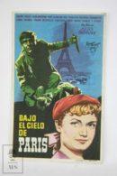 Original 1951 Sous Le Ciel De Paris Cinema / Movie Advt Brochure - Brigitte Auber,  Jean Brochard,  René Blancard - Publicité Cinématographique