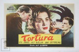 Original 1944 Hets Cinema / Movie Advt Brochure - Stig Järrel,  Alf Kjellin,  Mai Zetterling,  Olof Winnerstrand - Publicité Cinématographique