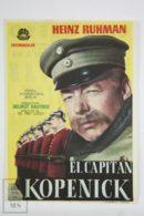 Original 1956 Der Hauptmann Von Köpenick Cinema / Movie Advt Brochure - Heinz Rühmann,  Martin Held,  Hannelore Schroth - Publicité Cinématographique