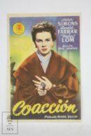 Original 1950 Cage Of Gold Cinema / Movie Advt Brochure - Jean Simmons,  David Farrar,  James Donald - Publicité Cinématographique