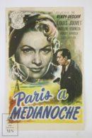 Original 1949 Entre Onze Heures Et Minuit Cinema / Movie Advt Brochure - Louis Jouvet,  Madeleine Robinson,  Léo Lapara - Publicité Cinématographique