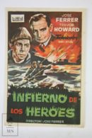 Original 1955 The Cockleshell Heroes  Cinema / Movie Advt Brochure - José Ferrer,  Trevor Howard,  Dora Bryan - Publicité Cinématographique