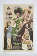 Original 1944 Chip Off The Old Block Cinema / Movie Advt Brochure - Donald O'Connor,  Peggy Ryan,  Ann Blyth - Publicité Cinématographique