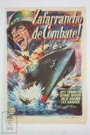 Original 1956 Away All Boats Cinema / Movie Advt Brochure - Jeff Chandler,  George Nader,  Lex Barker - Publicité Cinématographique