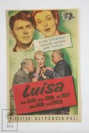 Original 1950 Louisa Cinema / Movie Advt Brochure - Ronald Reagan,  Charles Coburn,  Ruth Hussey - Publicité Cinématographique