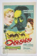 Original 1955 Oasis Cinema / Movie Advt Brochure - Michèle Morgan,  Cornell Borchers,  Carl Raddatz - Publicité Cinématographique
