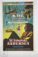 Original 1952 Hans Christian Andersen Cinema / Movie Advt Brochure - Danny Kaye,  Farley Granger,  Zizi Jeanmaire - Publicité Cinématographique