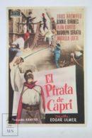Original 1949 I Pirati Di Capri Cinema / Movie Advt Brochure - Louis Hayward,  Binnie Barnes,  Mariella Lotti - Publicidad