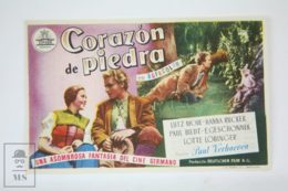 Original 1950 Das Kalte Herz Cinema / Movie Advt Brochure - Lutz Moik,  Hanna Rucker,  Paul Bildt - Publicité Cinématographique