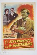 Original 1955 The Quatermass Experiment Cinema / Movie Advt Brochure - Brian Donlevy,  Jack Warner,  Margia Dean - Publicité Cinématographique