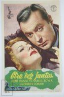 Original 1944 Together Again Cinema / Movie Advt Brochure - Irene Dunne,  Charles Boyer,  Charles Coburn - Publicité Cinématographique