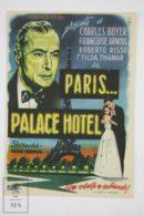 Original 1956 Paris, Palace Hôtel Cinema / Movie Advt Brochure - Charles Boyer,  Françoise Arnoul,  Roberto Risso - Publicité Cinématographique