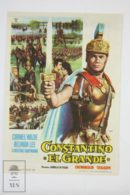 Original 1962 Costantino Il Grande Cinema / Movie Advt Brochure - Cornel Wilde,  Belinda Lee,  Massimo Serato - Publicité Cinématographique