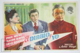 Original 1946 Angel On My Shoulder Cinema / Movie Advt Brochure - Paul Muni,  Anne Baxter,  Claude Rains - Publicité Cinématographique