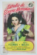 Original 1952 La Estrella De Sierra Morena Cinema / Movie Advt Brochure - Lola Flores,  Rubén Rojo,  José Nieto - Publicité Cinématographique