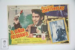 """Original 1952 El Señor Fotografo Cinema / Movie Advt Brochure - Mario Moreno """"Cantinflas"""",  Rosita Arenas,  Ángel Garasa - Publicité Cinématographique"""