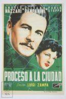 Original 1952 Processo Alla Città Cinema / Movie Advt Brochure - Amedeo Nazzari,  Silvana Pampanini,  Paolo Stoppa - Publicité Cinématographique